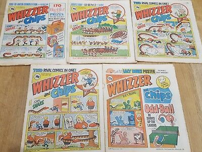 Whizzer and Chips Vintage U.K Comics x 5 (1981)