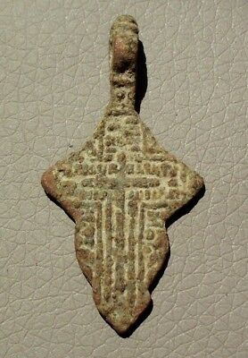 Authentic Medieval Bronze Cross Pendant - Wearable