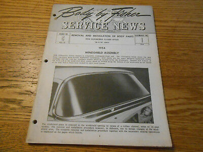 1954 OLDWMOBILE FISHER BODY SERVICE NEWS / MANUAL 54 OLDS 88 & 98 Closed Bodies