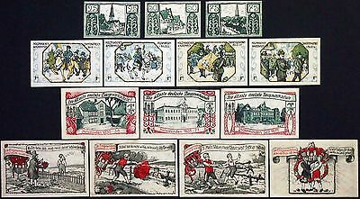 HOLZMINDEN 1921 complete series with ALL rare notes! German Notgeld Goethe