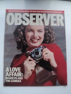 Vintage Marilyn Monroe Observer Pull Out (Marilyn & The Camera) - August 1987