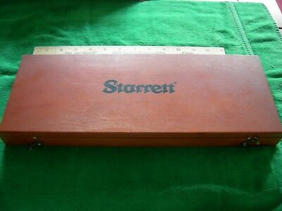 Exc. Starrett Micrometer Depth Gage Set. Complete W/ 8 Rods  And 1/2 Base #443