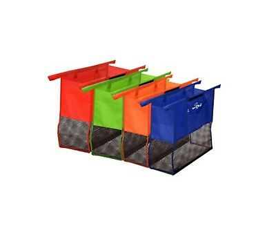 New Four Reusable Shopping Trolley Bag System Non-woven Fabric Top High Quality