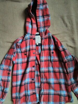 boys hoodie fat face flannel shirt age 9-10