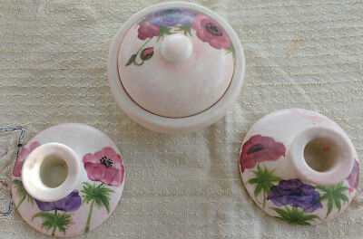 Radford China -Vintage Pair of candlestick Holders and Pot pourri bowl