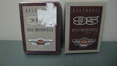 Harley Davidson 95 Years of Great Motocycles 1903-1998 2 Decks Playing Cards NOS