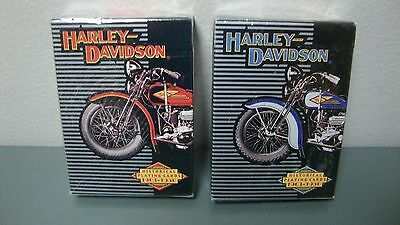 Harley Davidson Historical Motorcycles 1903-1950 2 Decks Playing Cards NOS