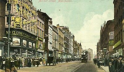 UK Manchester Market Street 1910 Stock-on-Trent Cover USA Due uncommon view PPC