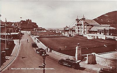 UK Ilfracombe - Pavilion from Gilbert Hotel old unused real photo sepia postcard