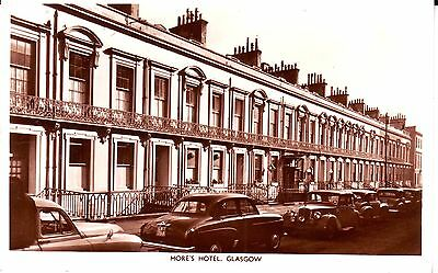 UK Scotland Glasgow - More's Hotel old used not mailed real photo sepia postcard