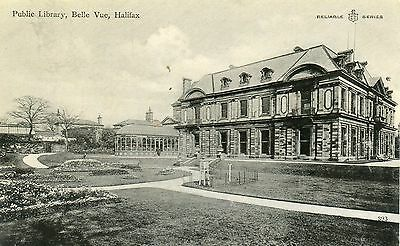 UK Halifax - Public Library pre WWI postcard