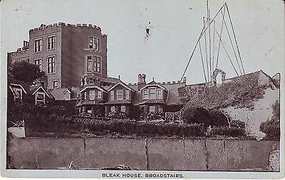 UK Broadstairs Bleck House and Riverbank Houses pre WWI used not mailed postcard