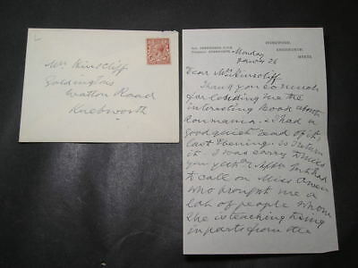Signed Letter Edith Lytton Queen Victoria Lady in Waiting & Suffragette Mother