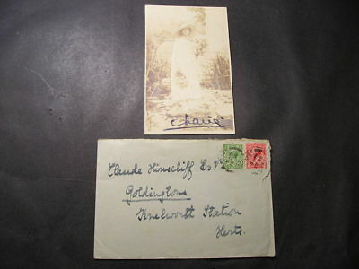 1925 Signed Postcard Letter Message Queen Marie of Romania to Claude Hinscliff