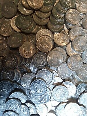 Mexican Uncirculated Silver Peso - ONE COIN