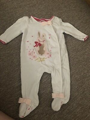 89b2f161d06 TED BAKER BABY Girls Floral Sleepsuit Newborn Vgc - £6.50