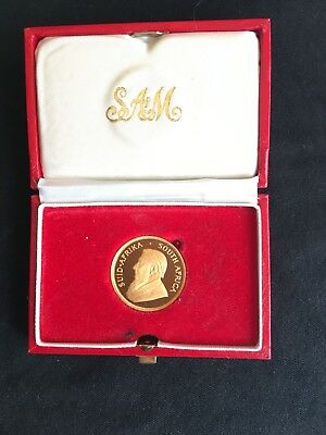 1985 South Africa 1/2 oz Gold Krugerrand Proof in Clamshell Case Pristine Coin