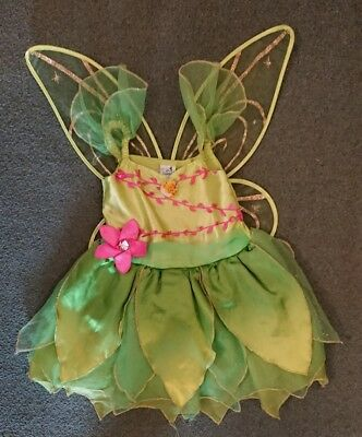 Girls Tinkerbell Dress Up Outfit Size Age 3