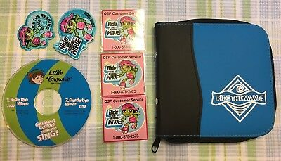 2005-06 Ride The Wave Girl Scout Patches, Magnets, Cd And Cd Case. Unused