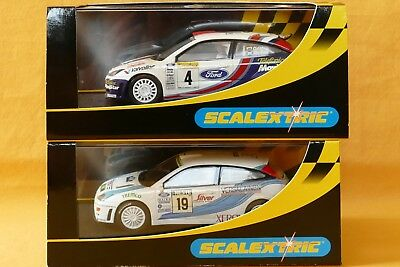 2x Scalextric Ford Focus WRC Martini 2001 + Finnland Rallye in OVP Fly Ninco