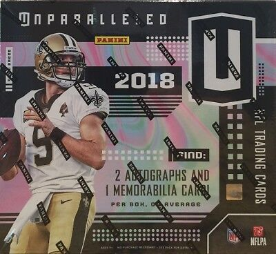 2018 Panini Unparalleled Football Hobby Sealed Box - In Stock!