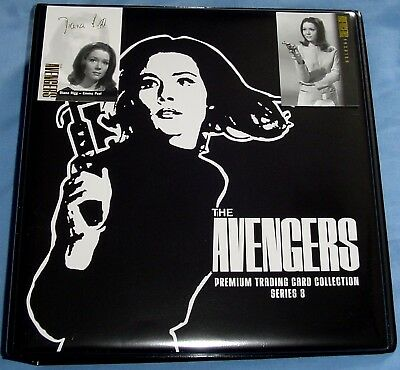 Avengers 1960's TV Series 3 Trading Cards Binder + 10 x Pages + 2 Special Cards