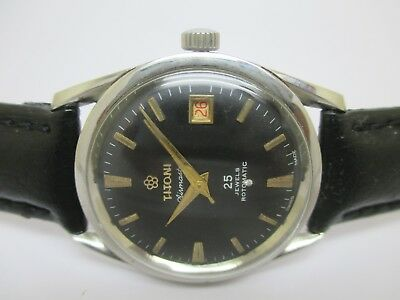 Swiss Made Vintage Men's Titoni Airmaster Rotomatic Date Working Wrist Watch