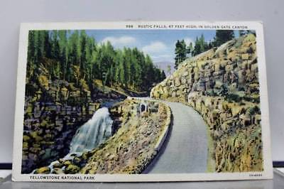 Yellowstone National Golden Gate Canyon Rustic Falls Postcard Old Vintage Card