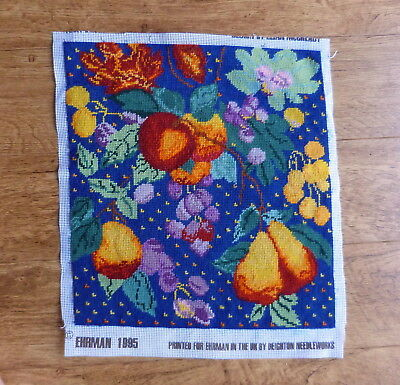 Ehrman completed wool tapestry of fruits