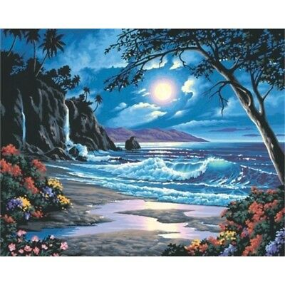 Dimensions Needlecrafts Paintworks Paint By Number Kit, Moonlit Paradise - Kit
