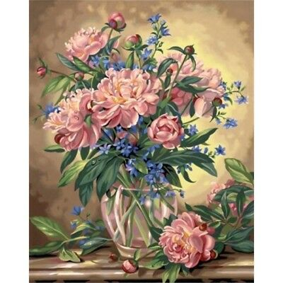 Paintsworks Paint By Numbers Peony Floral Paint Set - Kit Dimensions Paintworks