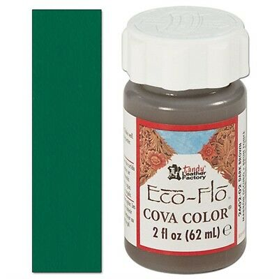 2oz Kelly Green Leather Colour - Ecoflo Cova Color Paint Leathercraft