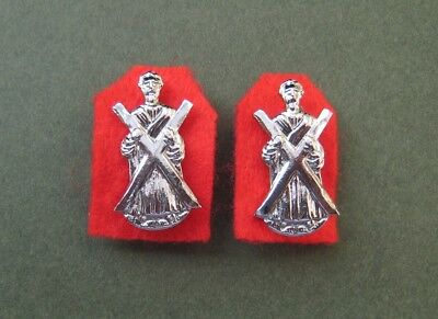 Black Watch matching pair of Chrome Collar Badges