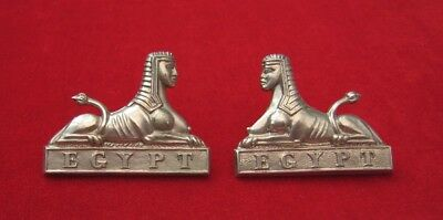 Gloucestershire Regiment matching facing pair of O/R's White Metal Collar Badges