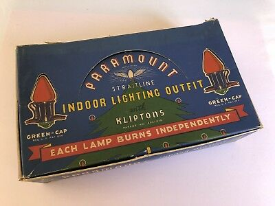 PARAMOUNT STRAITLINE 25 LIGHTS W Kliptons in Box