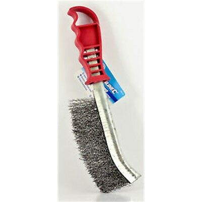 250mm Hand Steel Wire Brush - Heavy Duty Rust Paint Remover Metal Brass Tool