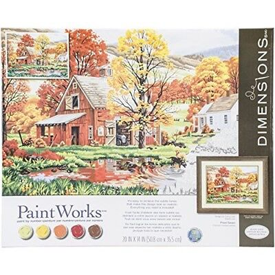 """Paintsworks Paint By Numbers20"""" x 14"""" - Friends Of Autumn - Dpw91475 Numbers 20"""