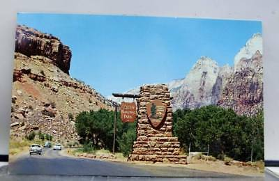 Utah UT Zion National Park South Entrance Postcard Old Vintage Card View Post PC