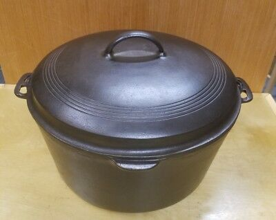 Vintage Htf # 1271 Wagner Ware Cast Iron Dutch Oven