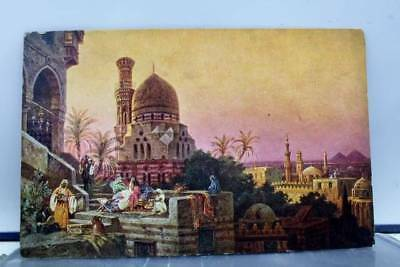 Egypt Cairo Postcard Old Vintage Card View Standard Souvenir Postal Post PC