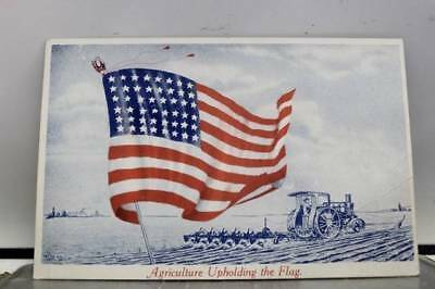 United States of America American Family Agriculture Flag Postcard Old Vintage