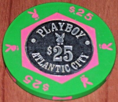 $25 Gaming Chip From The Playboy Casino In Atlantic City