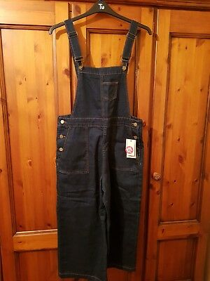 Womens Tu cropped denim dungarees New with tags. size 14