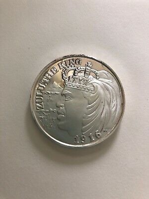 Krewe of ZULU, 1970 Silver New Orleans Mardi Gras Doubloon Stamped 1000