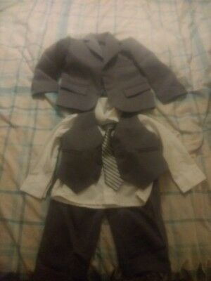 Full Suit With Waistcoat Shirt And Tie For 1 Year Old Boy