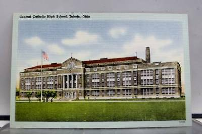 Ohio OH Toledo Central Catholic High School CCHS Postcard Old Vintage Card View