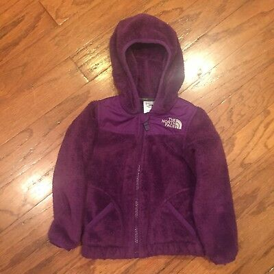 The North Face Baby Girls Purple Oso Hoodie Jacket Coat Hoodie 18-24 Months