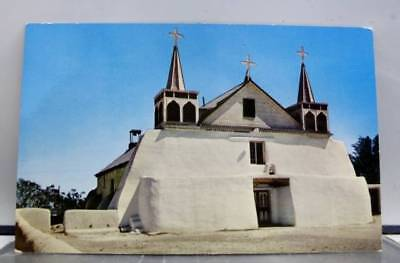 New Mexico NM Albuquerque Isleta Mission Indian Reservation Postcard Old Vintage