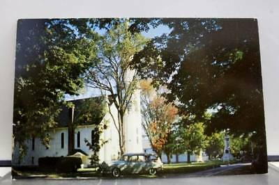 Vermont VT Manchester First Congregational Church Postcard Old Vintage Card View