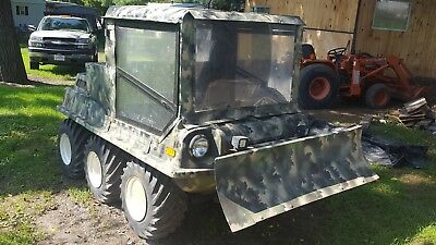 One of a Kind, Custom Max IV 6x6 Amphibious ATV w/Cab, Winch & Plow ~ NO RESERVE